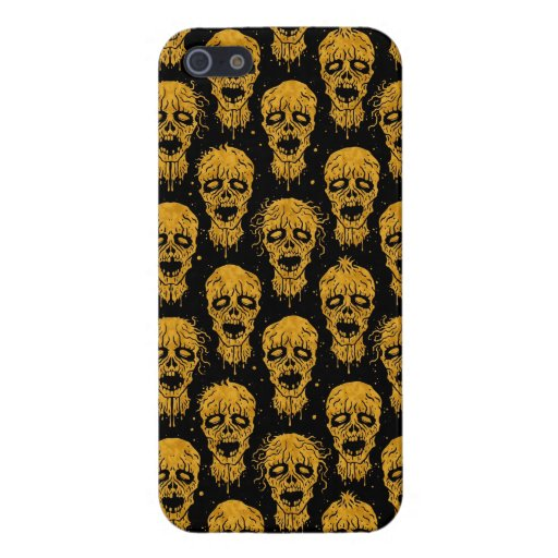 Yellow and Black Zombie Apocalypse Pattern Case For iPhone 5