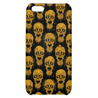 Yellow and Black Zombie Apocalypse Pattern iPhone 5C Cover