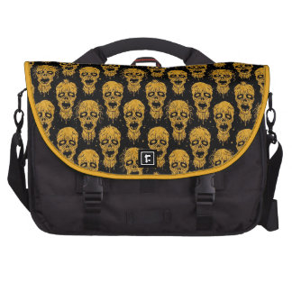 Yellow and Black Zombie Apocalypse Pattern Commuter Bags