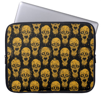 Yellow and Black Zombie Apocalypse Pattern Computer Sleeves