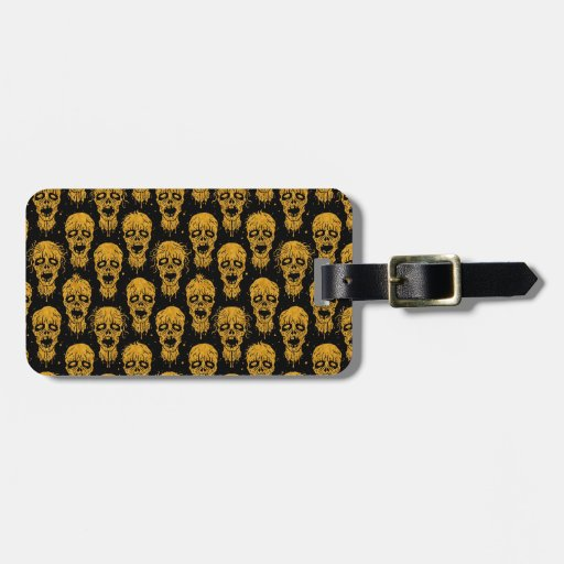 Yellow and Black Zombie Apocalypse Pattern Travel Bag Tags