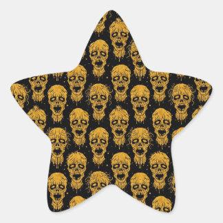 Yellow and Black Zombie Apocalypse Pattern Sticker