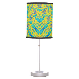 Yellow and Blue Abstract Pattern Lamp in HD