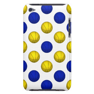 Yellow and Blue Basketball Pattern iPod Touch Cases