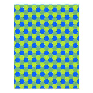 Yellow and blue honeycomb pattern letterhead