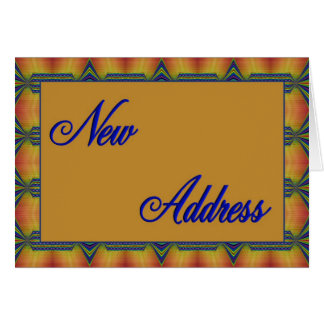 yellow and blue New Address Card