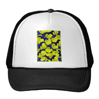 Yellow and blue pansies trucker hat