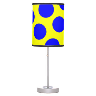 Yellow and Blue Polka Dots Table Lamp