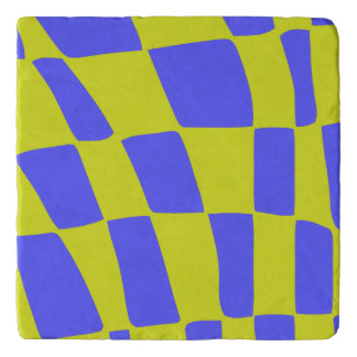 Yellow and Blue Squares Trivet