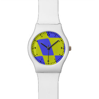 Yellow and Blue Squares Watch