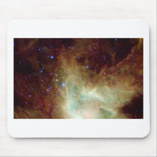 Yellow and Blue Star Cluster Mouse Pad