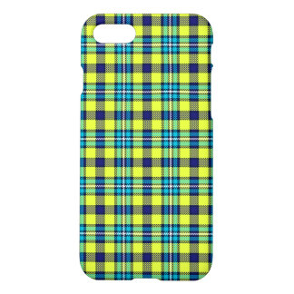 Yellow and blue tartan iPhone 8/7 case