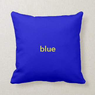 Yellow and Blue Themed Cushion