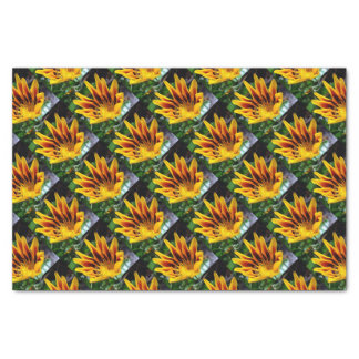 Yellow and Brown Gazania Tissue Paper