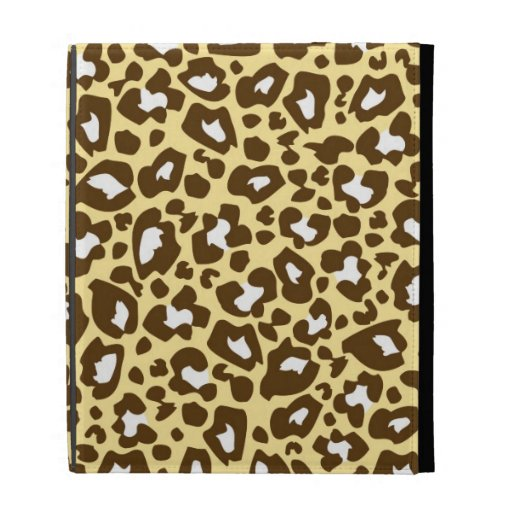 Yellow and Brown Leopard Spotted Animal Print iPad Folio Cover