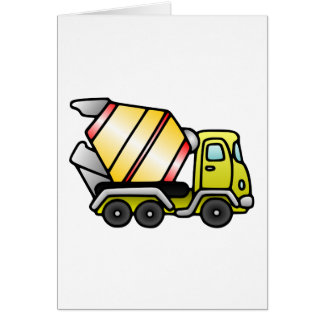 Yellow and Cement Mixer Card