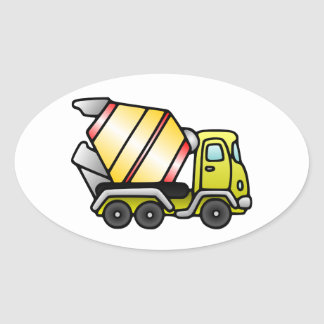 Yellow and Cement Mixer Stickers