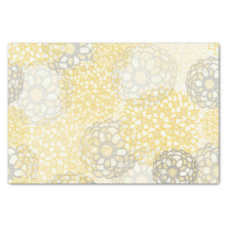 Yellow and Clay Flower Burst Design Tissue Paper