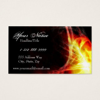 Yellow and Firey Red Fractals Business Card