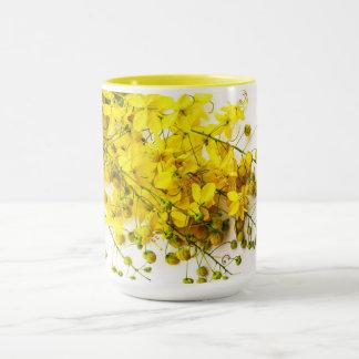 Yellow and Floral Mug