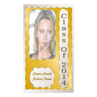 Yellow and Gold 2014 Student Profile Cards Business Card Templates