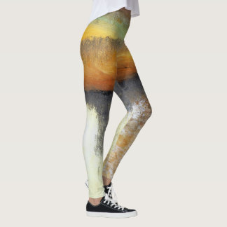 Yellow and Gold Abstract Dance Leggings