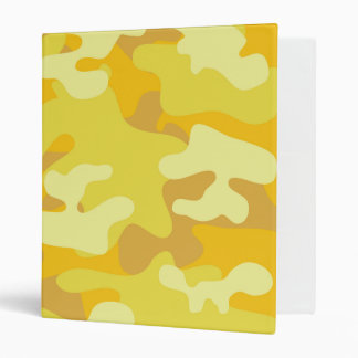 Yellow and Gold Camo Design 3 Ring Binders