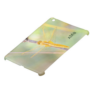 Yellow and Gold Colored Dragonfly iPad Mini Cases