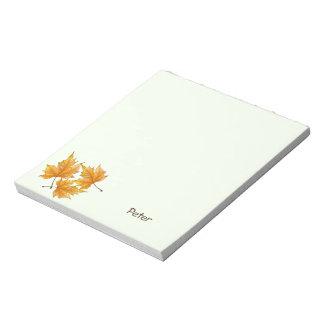 Yellow and Gold Maple Leaves Notepad
