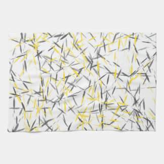 Yellow and Gray Abstract Kitchen Towel