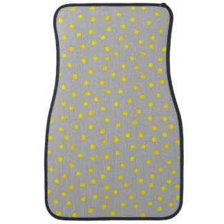 Yellow And Gray Confetti Dots Car Carpet