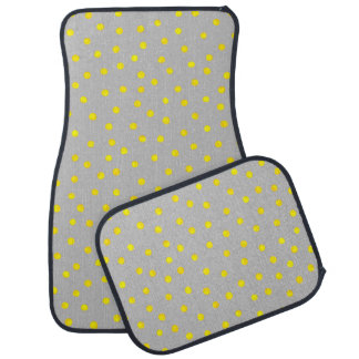 Yellow And Gray Confetti Dots Car Mat
