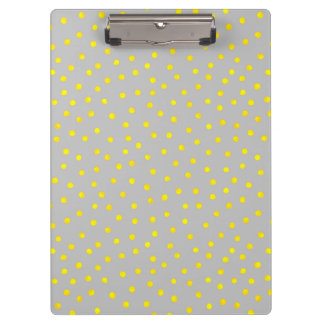 Yellow And Gray Confetti Dots Clipboards