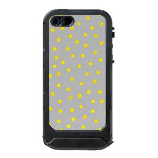 Yellow And Gray Confetti Dots Incipio ATLAS ID™ iPhone 5 Case