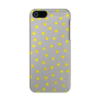 Yellow And Gray Confetti Dots Incipio Feather® Shine iPhone 5 Case
