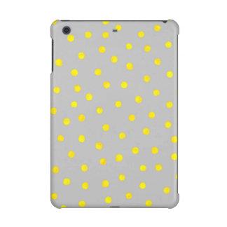 Yellow And Gray Confetti Dots iPad Mini Cover
