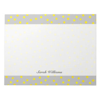 Yellow And Gray Confetti Dots Notepads