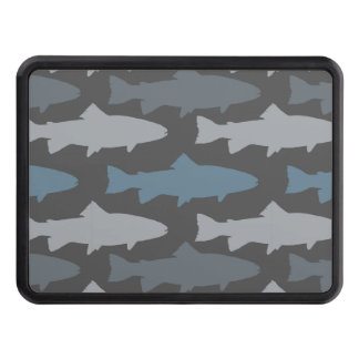 Yellow and Gray Fun Trout Fish Pattern Trailer Hitch Cover