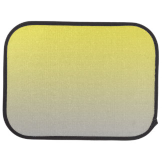 """Yellow And Gray Ombre"" Car Carpet"