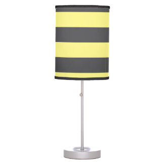 Yellow and gray Stripe Table Lamps