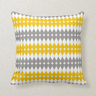 Yellow And Gray Tear Drop Pattern Pillows