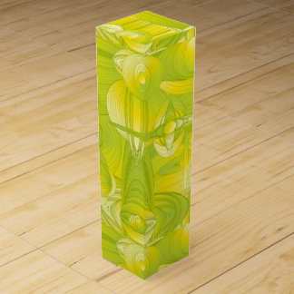 Yellow and Green Art Deco Design Wine Box