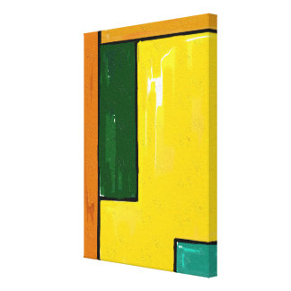 """Yellow and Green"" Art on Canvas"