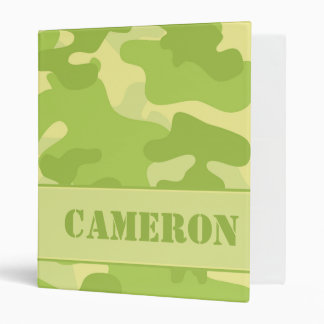 Yellow and Green Camouflage (Camo) | Personalized Binder