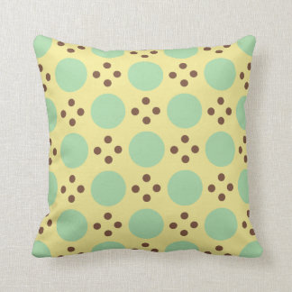 Yellow and green circle design cushion
