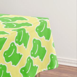 Yellow And Green Frogs Pattern Tablecloth