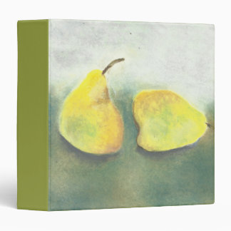 Yellow and Green Pears Still Life 3 Ring Binder