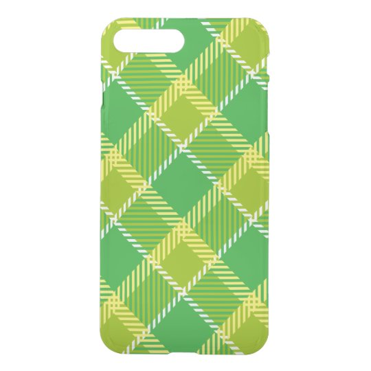 Yellow And Green Plaid Geometric Pattern iPhone 8 Plus/7 Plus Case