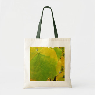 Yellow and Green Redbud Leaves Autumn Nature Tote Bag