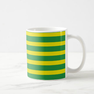Yellow and Green Stripes Mug